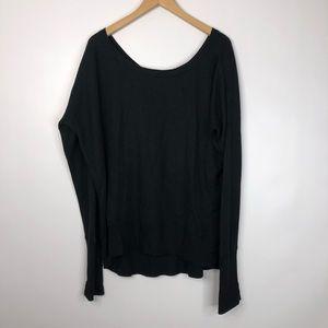 Lululemon Black Sweater with V Back
